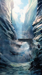 Frozen valley by Athayar