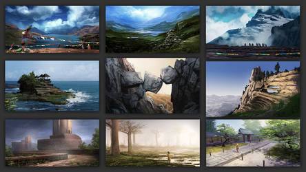 speed paints/studies by Athayar