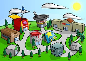 Kojopets: Shop Map by BlakliteGraphics