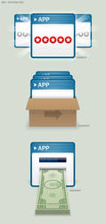 Bebo: Selling Apps Preso Icons by BlakliteGraphics