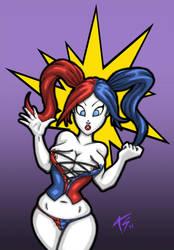 Harley got boobs! by K-bron