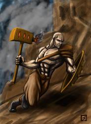 Outcast Odyssey Steampunk Warrior by K-bron