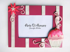 Pink Cupcake Frame by ArteDiAmore