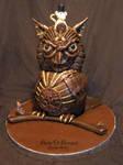 Steampunk Owl Cake by ArteDiAmore