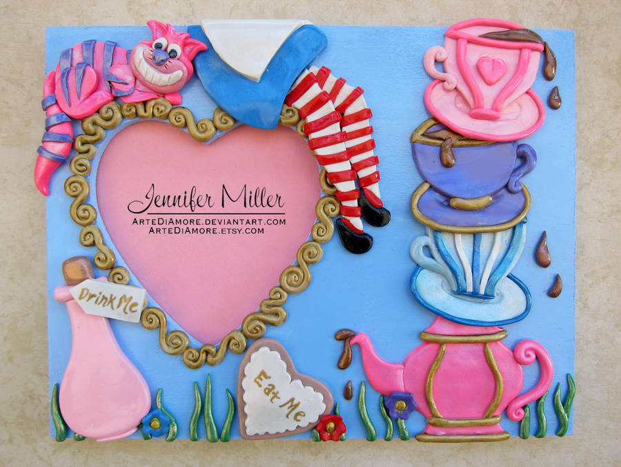 Alice In Wonderland Frame By Artediamore On Deviantart