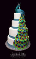 Peacock Wedding Cake by ArteDiAmore