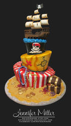 Pirate Cake by ArteDiAmore