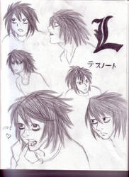 L Sketches by DraculaAzuri