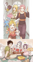 Nalu and Gale reunion by Krystal-chah