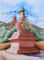 Amitabha Stupa by IvieMoon