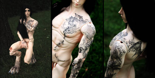 Soom Ender/Phonolus - Blush And Tattoo Detail by veromagica