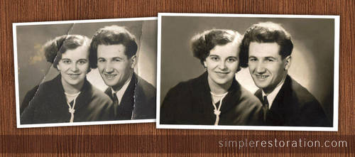 Old and Damaged Photo Repair by SimpleRetouch