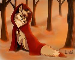 Little red riding fox by ivy-kitty