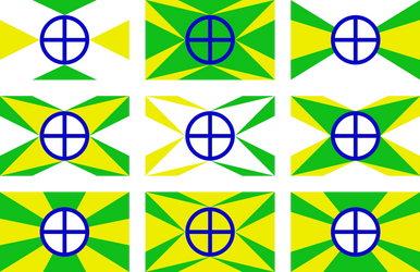 Flag of the Terrestric Republic: Drafts, Part 1 by RandomGuy32