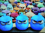 Angry Blue Birds leading the Angry chicks by TrevLafoe