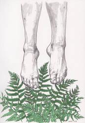 fern - inktober [day 2] by menuli