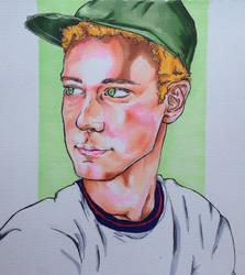 Copic Marker Portrait by KiranBenning