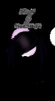 Black blue short hair png by StarsColdNight