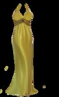 Sexy yellow dress by StarsColdNight