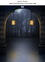 Lights path premade BG by StarsColdNight