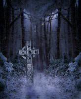 Snowing night premade BG by StarsColdNight