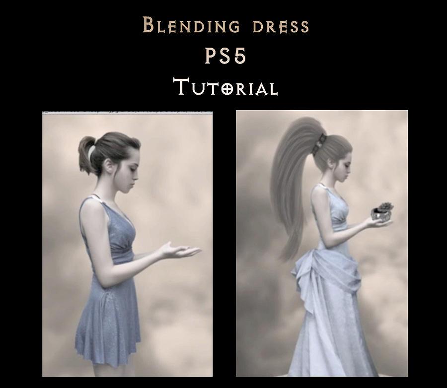 blending dress pS5 tutorial by StarsColdNight