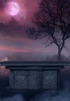 purple night II premade bg by starscoldnight by StarsColdNight