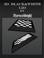 3D Black White Lids by StarsColdNight