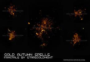 Gold Autumn spells  fractals by STARSCOLDNIGHT by StarsColdNight