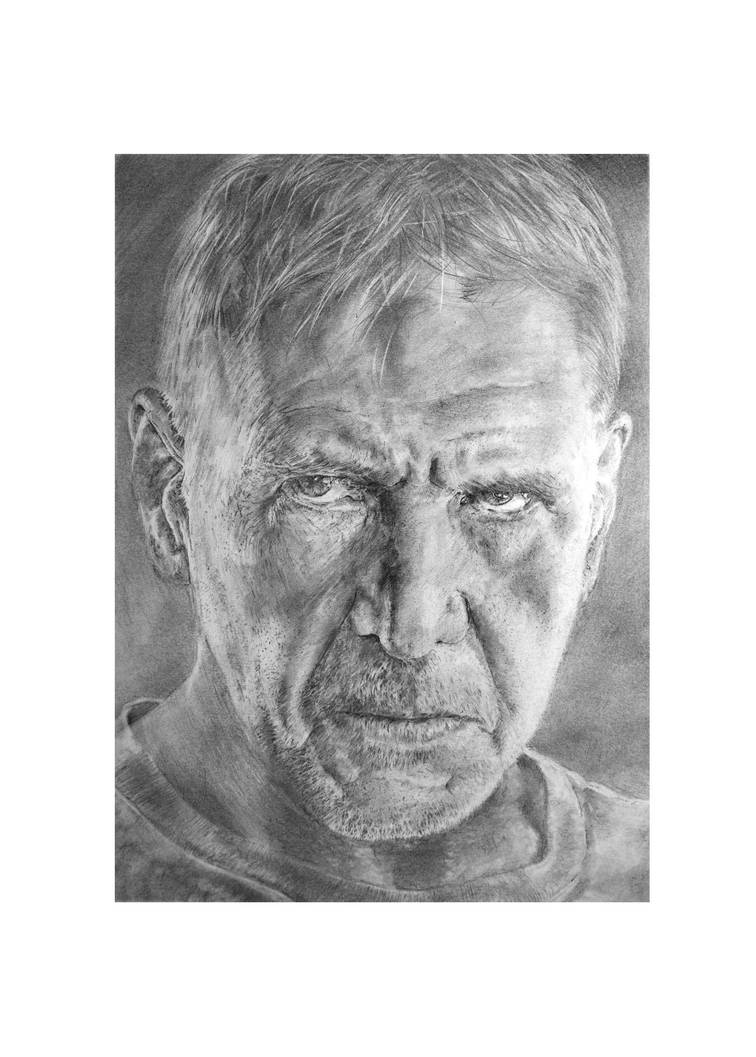 Harrison Ford (from Blade Runner 2049) by CarlSyres