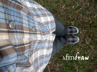 Plaid Self Portrait by sfmdraw