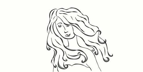 Wind Blown Hair by sfmdraw