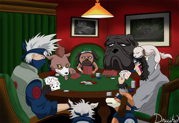 Poker Night in Konoha by druihd