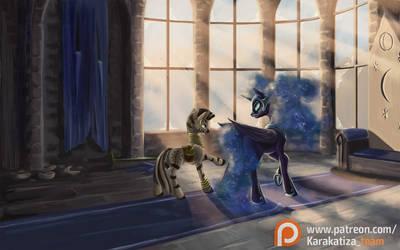 Talk in the Throne room by KirillK