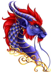 Royal Dragon by blackberrehmoved