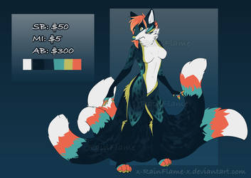 Vixen Kitsune Adopt- Auction- Closed by x-RainFlame-x