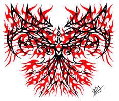 Pheonix tribal design by superchickenn123