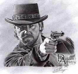 Russell Crowe as Ben Wade by superchickenn123
