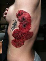 Wedding Flowers Tattoo by superchickenn123