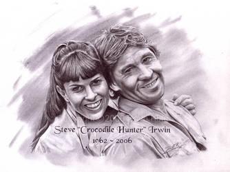 Steve Crocodile Hunter Irwin by superchickenn123