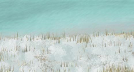 Snowy former meadow by Shiningstarofwinter