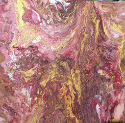 Acrylic Fluid Pour With Gold by sarararon