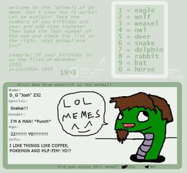 Animals of da meme! WITH ME! (Z52) by GreenpandaZ52