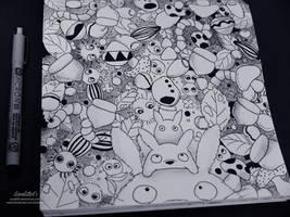 Ghibli Doodle Art - Totoro Doodle 1 by sorali04