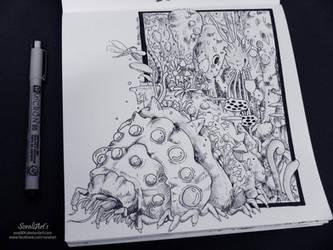 Ghibli Doodle Art - Nausicaa Doodle 7 by sorali04
