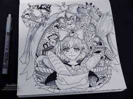 Ghibli Doodle Art - Delivery Service Doodle 17 by sorali04