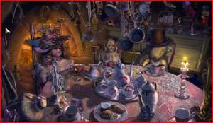 Antique Little Tea Party by hedgehogkween