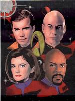 The Four Star Trek Captains by iamww