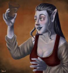 Drinking Elf by JoanaDolce