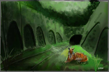 No Humans Left - Daily Spitpaint by JoanaDolce